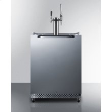 Outdoor/indoor Commercial Nitro-infused Dual Tap Coffee Dispenser for Built-in or Freestanding Use, With Complete Tap Kit, Digital Thermostat, and 304 Grade Stainless Steel Exterior