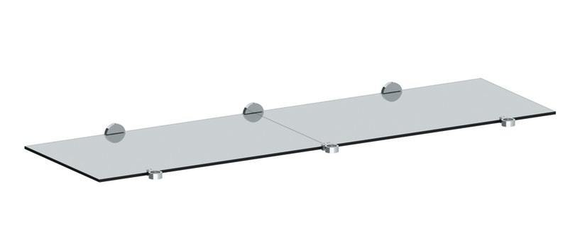 """Tempered Glass Shelf -for 72"""" Double Console"""