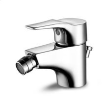 "Single lever bidet mixer with aerator 1 1/4"" pop-up waste flexible tails."