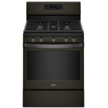 5.0 cu. ft. Whirlpool® gas convection oven with Frozen Bake technology Fingerprint Resistant Black Stainless