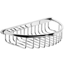 "Chrome Plate Shower basket with concealed fix, 8 3/8"" W x 1 3/4"" D"