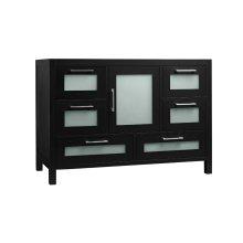 "Athena 48"" Bathroom Vanity Base Cabinet in Black"
