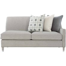 Palisades Right Arm Loveseat in Cerused Greige (796)
