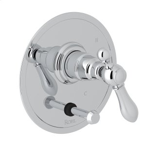 Polished Chrome Arcana Pressure Balance Trim With Diverter with Arcana Series Only Classic Metal Lever Product Image