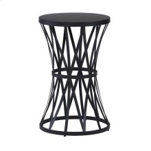 Round Chairside Table - Matte Black Finish