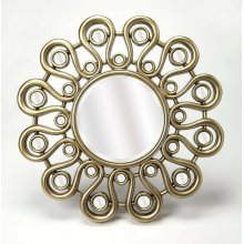 Enjoy this mirror in any room in your home. It's stylish flower inspired frame gives it that little something extra that makes the mirror pop, as opposed to simple mirrors that just hang on your wall. Enjoy not only admiring this mirror, but the reflectio