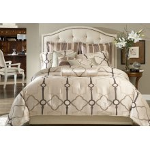 10 Pc King Comforter set Pearl