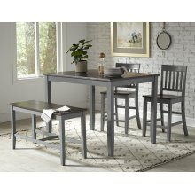 Decatur Lane 4pack Counter Height Set - Autumn Brown/grey