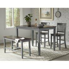 Decatur Lane 4pack Counter Height Set - Autumn Brown/grey