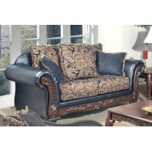 San Marino Ebony / Salias Loveseat