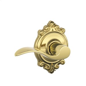 Accent Lever with Brookshire trim Hall & Closet Lock - Bright Brass Product Image
