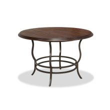 Midland Metal/Wood Reg Dining Table