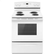 30-inch Electric Range with Bake Assist Temps White