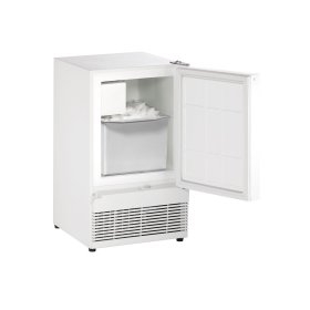 "Ada Series 15"" Crescent Ice Maker With White Solid Finish and Field Reversible Door Swing (115 Volts / 60 Hz)"