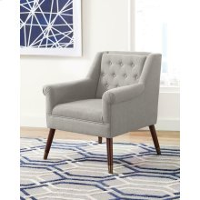 Upholstered Light Grey Accent Chair