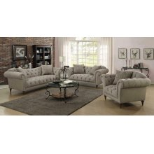 Alasdair Traditional Light Brown Sofa