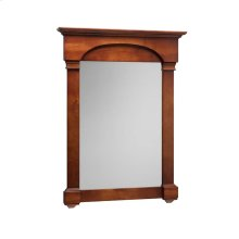 "Verona Tradional 30"" x 39"" Solid Wood Framed Bathroom Mirror in Colonial Cherry"