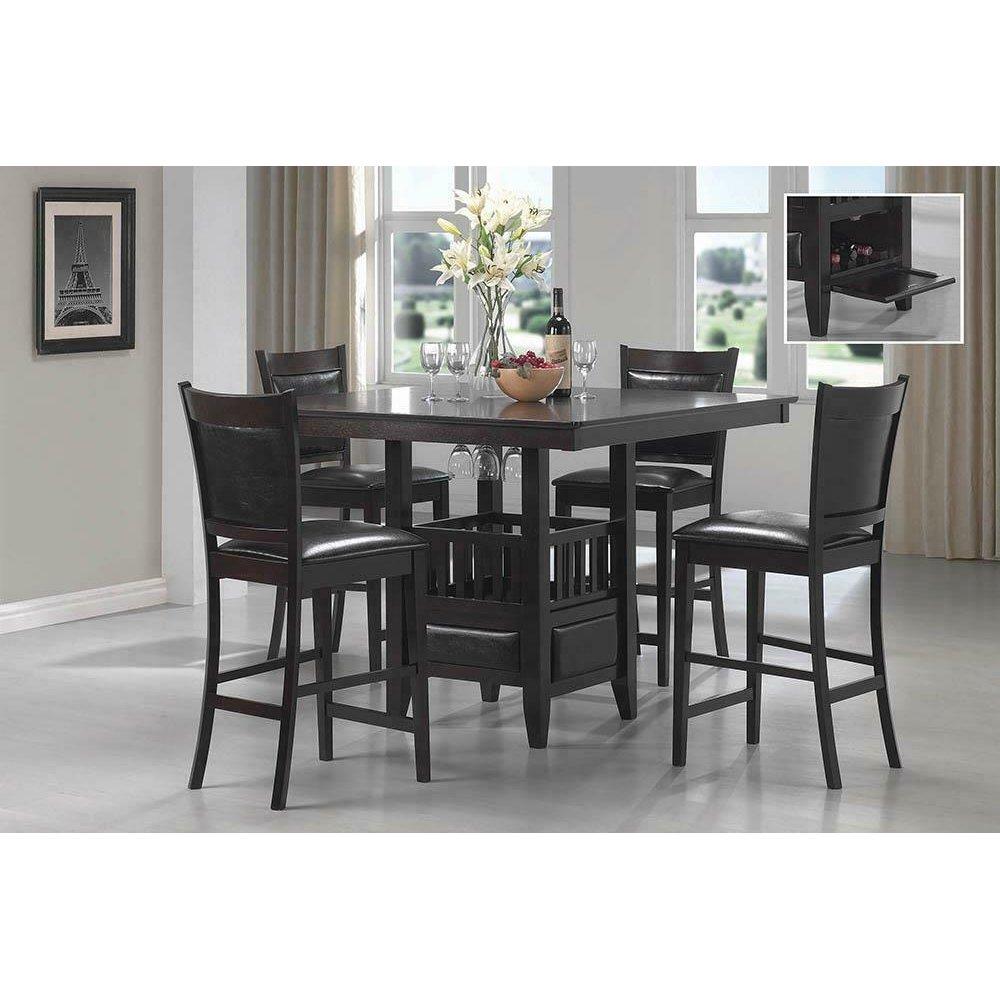 Jaden Casual Espresso Counter- Height Table