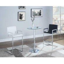 Contemporary Chrome Bar Table