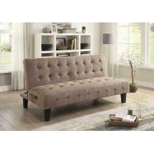 Taupe Sofa Bed With Usb and Power Ports