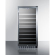 62 Bottle Dual Zone Wine Cellar With Seamless Stainless Steel Trimmed Glass Door, Lock, and Digital Controls