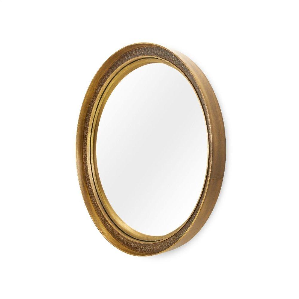 Dorian Large Mirror, Antique Brass