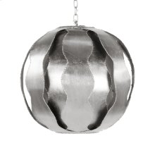 Brutalist Wave Ball Pendant In Silver Leaf
