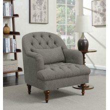 Traditional Dark Grey Accent Chair