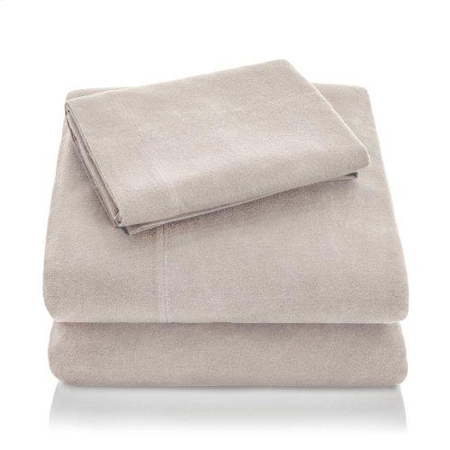 Portuguese Flannel King Pillowcase White