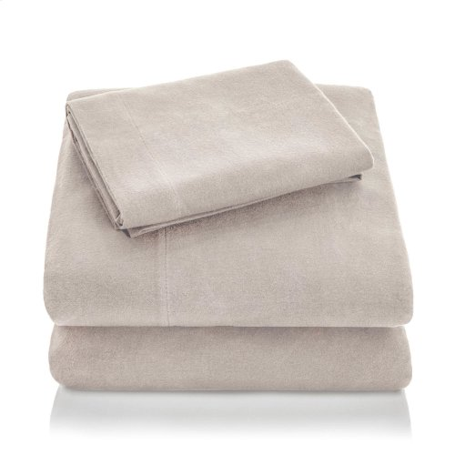 Portuguese Flannel King Pillowcase Oatmeal