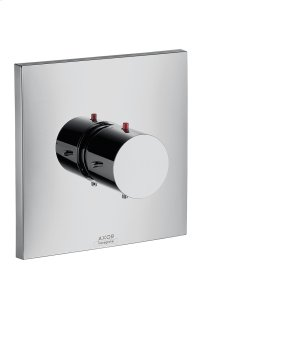 Brushed Black Chrome Thermostat HighFlow for concealed installation Product Image