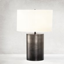 Ombre Antique Pewter Finish Cameron Ombre Table Lamp