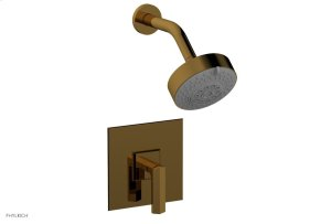 DIAMA Pressure Balance Shower Set - Lever Handle 184-22 - French Brass Product Image