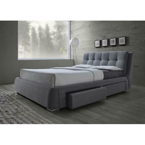 Fenbrook Transitional Grey Eastern King Bed