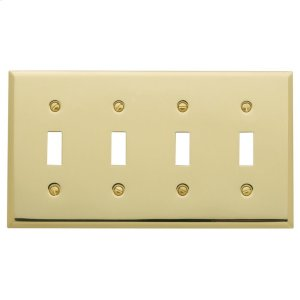 Polished Brass Beveled Edge Quad Toggle Product Image