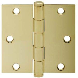 "Door Hardware  3.5"" Square Hinge - Bright Brass Product Image"