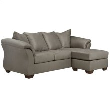 Signature Design by Ashley Darcy Sofa Chaise in Cobblestone Microfiber