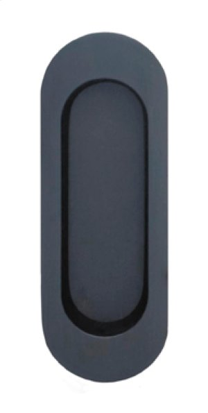 Modern Oval Flush Cup in US10B (Black, Oil-Rubbed, Lacquered) Product Image