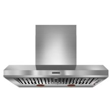 48'' Wall-Mount 600-1200 CFM Canopy Hood, Commercial-Style Stainless Steel