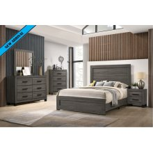 8321 Antique Grey Queen Complete Group (Queen Bed, D, M, C)