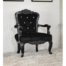BLACK FRAME/BLACK PU CHAIR