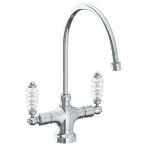 "Deck Mounted 1 Hole Kitchen Faucet With 9 3/4"" Spout Product Image"