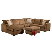 6800 HADEN Sectional Complete in Cornell Cocoa:..-- 6840 RAF CRNSo (MFG # 6840-1661)..-- 6820 LAF S0Chse (MFG # 6820-1661)
