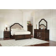 Ilana Traditional Antique Java Queen Bed