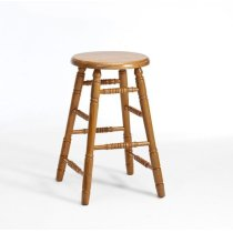 Classic Oak Chestnut Backless Counter Stool Product Image