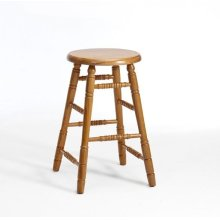 Classic Oak Chestnut Backless Counter Stool