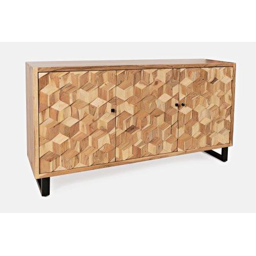 Geometrix 2 Door Accent Cabinet-natural