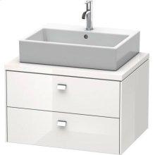Brioso Vanity Unit For Console, White High Gloss (decor)