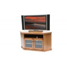 """A-T243 Traditional Alder 55"""" Corner TV Console"""