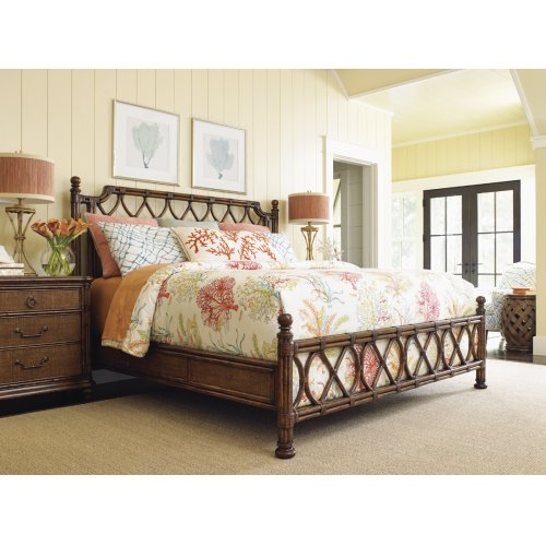 Island Breeze Rattan Bed California King